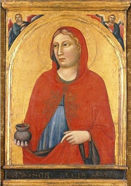 http://commons.wikimedia.org/wiki/File:'St._Lucy',_painting_by_Jacopo_del_Casentino_and_assistant,_c._1330,_El_Paso_Museum_of_Art.jpg