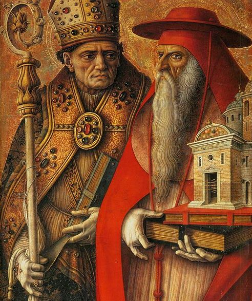 St Augustine (left) with St Jerome, http://commons.wikimedia.org/wiki/File:Carlo_Crivelli_-_St_Jerome_and_St_Augustine_(detail)_-_WGA5794.jpg