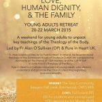 Pure in Heart retreat, 20-22 March