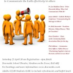 "One day conference on ""Tools for evangelisation: communicating the faith"""