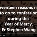 Seventeen reasons not to go to confession during this Year of Mercy