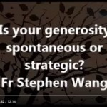 Is your generosity spontaneous or strategic?
