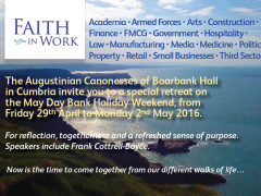 """Are you happier when your values and your workplace are in harmony? A """"Faith in Work"""" retreat at Boarbank Hall"""